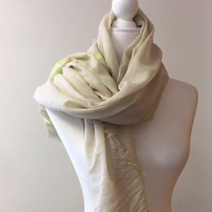 3/$20 target blanket scarf beige and neon yellow